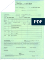 Course Registration Form Graduate