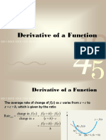 10 Derivative of a Function