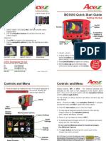 BG 1600 Quick Start Guide