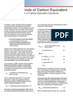 Carbon Equivalent Equation