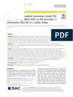 Mapping the medical outcomes study HIV health survey (MOS-HIV) to the EuroQoL 5 Dimension (EQ-5D-3 L) utility index