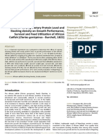 Effect of Varying Dietary Protein Level Andstocking Density on Growth Performancesurvival and Feed Utilization of Africancatfish c
