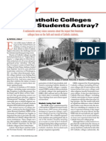 Catholic College Report by Cardinal Newman Society