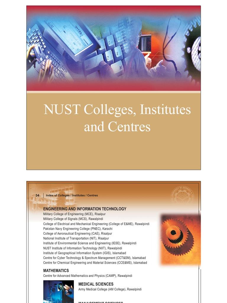 Colleges of NUST | Science And Technology | Academia