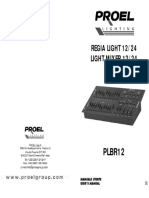 User manual Proel PLBR12
