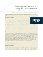 2016 Suggested Answers in Mercantile Law