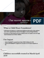 Recent Success Stories of Child Heart Foundation An NGO Working for Congenital Heart Disease Children