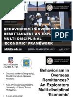 Behaviourism in Overseas Remittances?