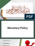 Monetary Policy  Presentation