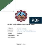 1er Informe de Qca Analitica