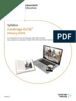 CIE IGCSE History Syllabus