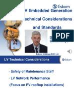 Standards for low voltage embedded generation