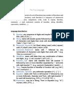 Tiny PL  - Language Description
