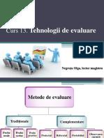 Curs 13 Tehnologii de evaluare.pptx