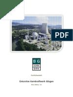 Exkursionsbericht-Pflichtportfolio - Ein Besuch Im Kernkraftwerk Gösgen