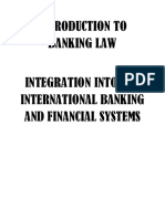 Introduction to Banking Law