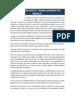 Reseña Histórica Juana Azurduy de Padilla