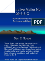 Procedure for Environmental Cases