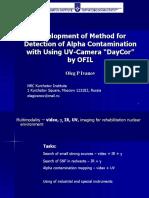 Ivanov. UV Imaging of Alpha Radioactivity