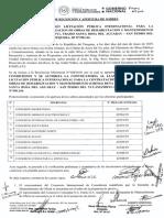 Apertura de ofertas  para fiscalización de obras de rehabilitación y mandenimiento del tramo Santa Rosa- San Pedro del Ycuamandiyú – Puerto Antequera