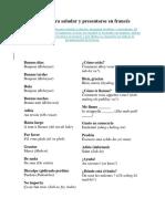 Frases Para Saludar y Presentarse en Francés