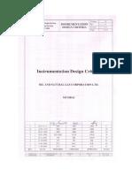 Instrument Design Criteria