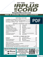 JUNE 2019 Surplus Record Machinery & Equipment Directory