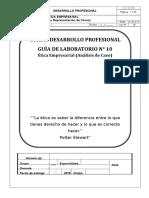 Guía Lab. 10 Calif. Ética Empresarial