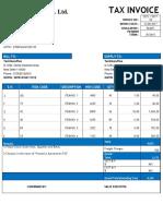 GST Invoice Format No. 15