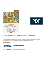 Ordine si Haos. Mit si magie in cultura traditionala romaneasca PDF (Download eBook).pdf