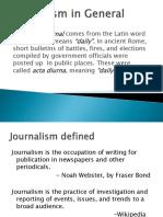 Journalism Defined