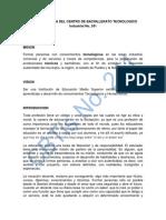 Codigo de Etica Del Centro de Bachillerato Tecnologico Industrial No