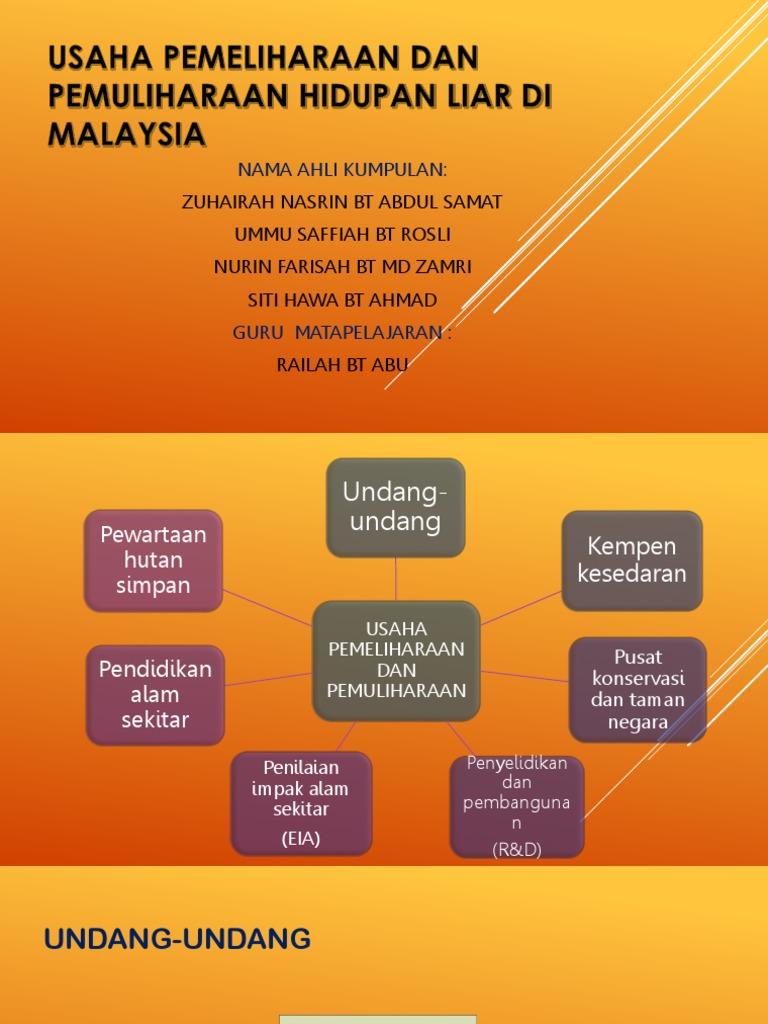 5 4 Usaha Pemeliharaan Dan Pemuliharaan Hidupan Liar Di Malaysia