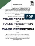 font survey results