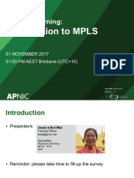 Introduction of MPLS services