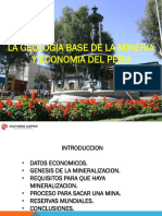 Congreso Minero Unsa 07 Nov.2018 Geologia Base de La Mineria y Economia Del Peru