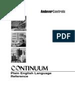 Continuum Plain English Reference