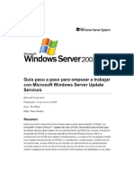 Paso a Paso Para Empezar a Trabajar Con Microsoft Windows Server Update Services