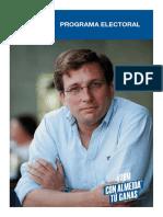 Programa electoral del PP para al Ayuntamiento de Madrid