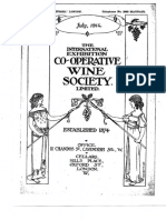 The International Exhibition Co-operative Wine Society 1914 Bordeaux and Burgundy