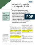 3.Good Occlusal practice in simple restorative dentistry.PDF