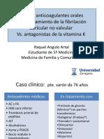 anticoagulacion en pacientes con FA