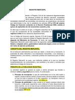 Resumen Del Registro Mercantil.