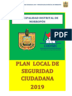 Plan Local Seguridad Ciudadana 2019 - Municipalidad Distrital