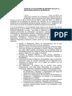 Acta de Instalación de La Plataforma de Defensa Civil de La Municipalidad Distrital de Morales