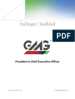Executive Position Profile - Greater Mankato Growth - President and CEO