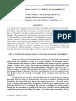 (07) Metacognition Panaoura 2