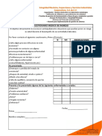 Cuestionario Medico