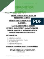 MODELAMIENTO HIDRAÚLICO  PARA LINEA DE AGUA Y DESAGUE.docx