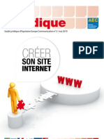 Guide Juridique 2010 Creer Site Internet